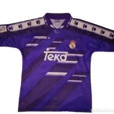 Coleccionismo deportivo: CAMISETA ORIGINAL REAL MADRID FIRMADA MICHAEL LAUDRUP. Lote 268986959