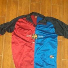 Coleccionismo deportivo: CAMISETA OFICIAL DEL BARCELONA F.C. AÑO DEL CENTENARIO 1999.NIKE TALLA XL. Nº10 RIVALDO.ORIGINAL.. Lote 269199893