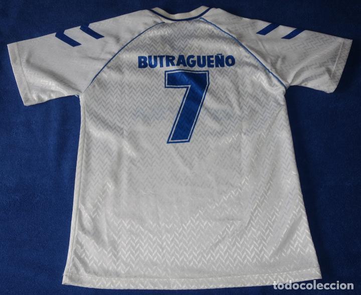 Coleccionismo deportivo: Camiseta Butragueño - Otaysa - Real Madrid (Talla 12) - Foto 3 - 269740998