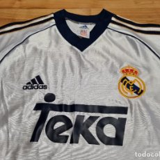 Coleccionismo deportivo: CAMISETA FÚTBOL REAL MADRID 2000/2001 ADIDAS TEKA TALLA M. VINTAGE. Lote 273492013
