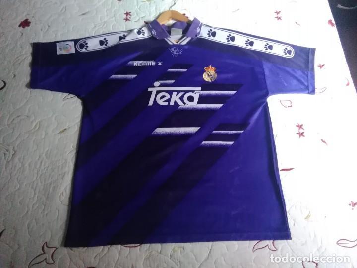 CAMISETA OFICIAL DEL REAL MADRID TEMPORADA 94 / 95.KELME TEKA,2ª EQUIPACIÓN.MADE IN SPAIN.TALLA XL. (Coleccionismo Deportivo - Ropa y Complementos - Camisetas de Fútbol)