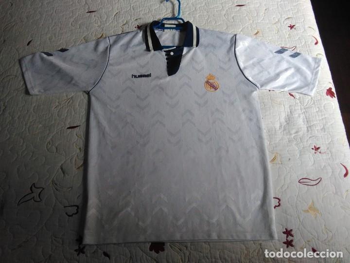 REAL MADRID. CAMISETA FUTBOL ORIGINAL HUMMEL OFICIAL TALLA XL CAMISETA ORIGINAL HUMMEL REAL MADRID (Coleccionismo Deportivo - Ropa y Complementos - Camisetas de Fútbol)