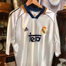 Colecionismo desportivo: CAMISETA ADIDAS REAL MADRID FUTBOL - TALLA XL - MEDIDA LARGO 82 CM Y 63 CM DE AXILA. Lote 276001898
