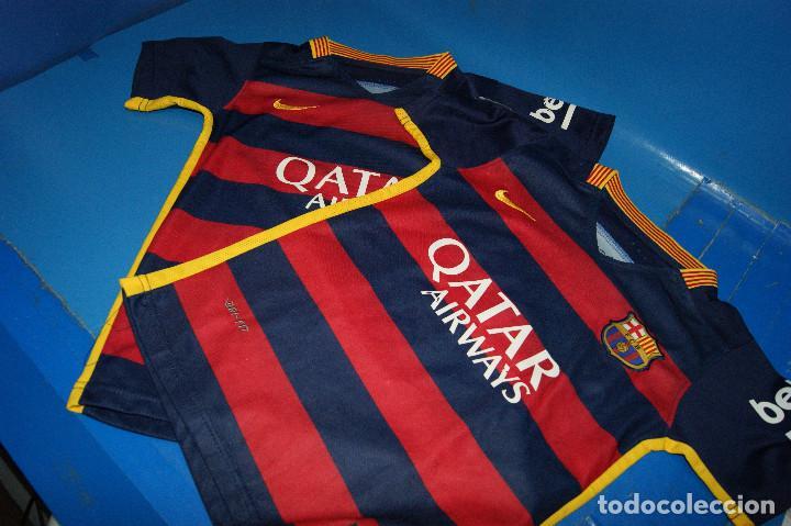 Coleccionismo deportivo: Lote FCB: Bolsa Nike, 2 camisetas infantiles nike Qatar/Unicef, bufanda, camiseta 14 Jordi ... - Foto 8 - 277254543