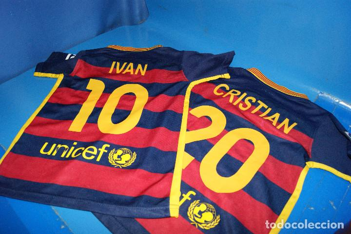 Coleccionismo deportivo: Lote FCB: Bolsa Nike, 2 camisetas infantiles nike Qatar/Unicef, bufanda, camiseta 14 Jordi ... - Foto 9 - 277254543