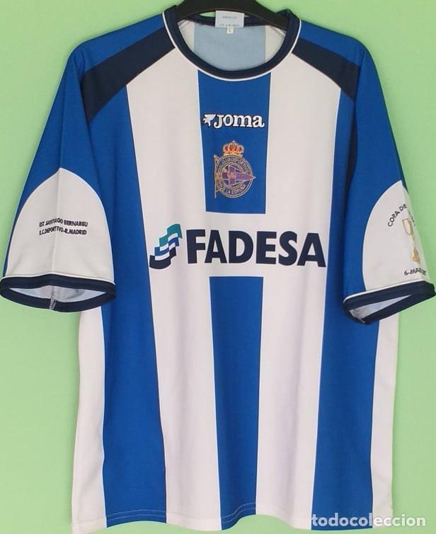 CAMISETA DEPORTIVO DE LA CORUÑA COPA DEL REY 6 MARZO 2002 / ORIGINAL JOMA. TALLA L (Coleccionismo Deportivo - Ropa y Complementos - Camisetas de Fútbol)