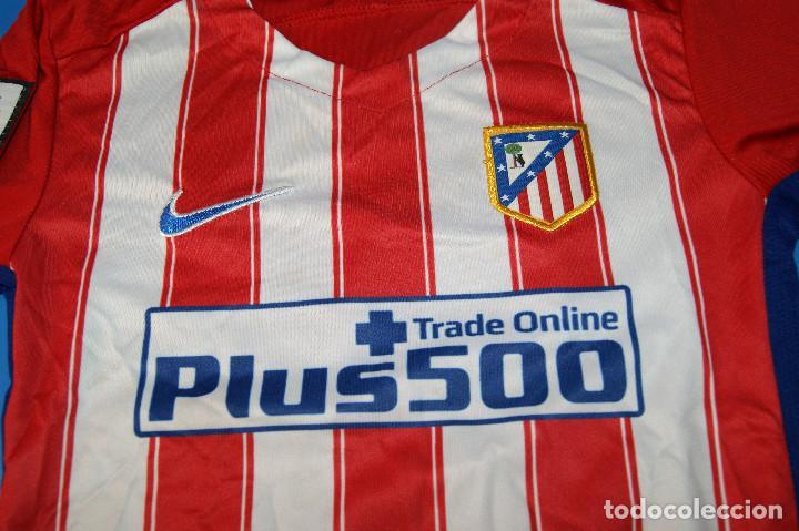 Coleccionismo deportivo: Camiseta Atlético de Madrid. Nº 7 Griezmann. 5-6 años. Nike. - Foto 3 - 277278263