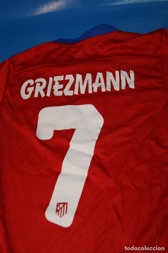 Coleccionismo deportivo: Camiseta Atlético de Madrid. Nº 7 Griezmann. 5-6 años. Nike. - Foto 4 - 277278263