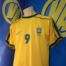Coleccionismo deportivo: CAMISETA SELECCIÓN OFICIAL BRASIL. Nº 9, RONALDO. NIKE, TALLA L.. Lote 277280178