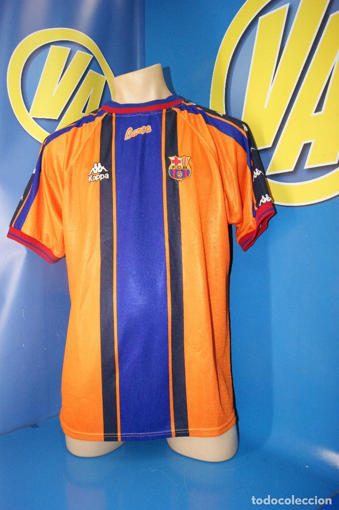 CAMISETA F.C.B. VINTAGE. Nº7, FIGO. TALLA XL. (Coleccionismo Deportivo - Ropa y Complementos - Camisetas de Fútbol)