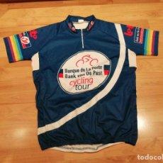 Coleccionismo deportivo: TRIKOT MAILLOT JERSEY JARTAZI BANQUE DE LA POSTE BANK VAN DE POST CYCLING TOUR (TALLA XL). Lote 284330208