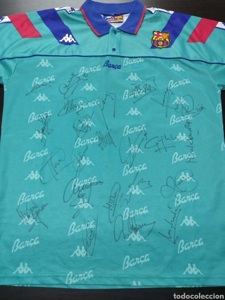 CAMISETA DEL FC BARCELONA - 1993/94 FIRMADA POR CRUYFF, ROMARIO, STOITXKOV, KOEMAN... 23 AUTÓGRAFOS (Coleccionismo Deportivo - Ropa y Complementos - Camisetas de Fútbol)