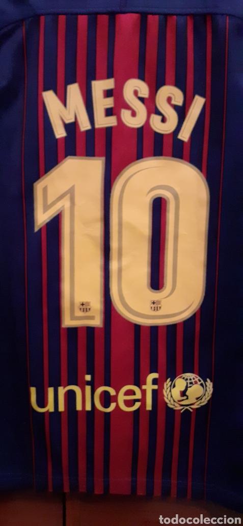 Coleccionismo deportivo: Equipacion del Barcelona,n° 10 MESSI, Talla 28 - Foto 2 - 284658818