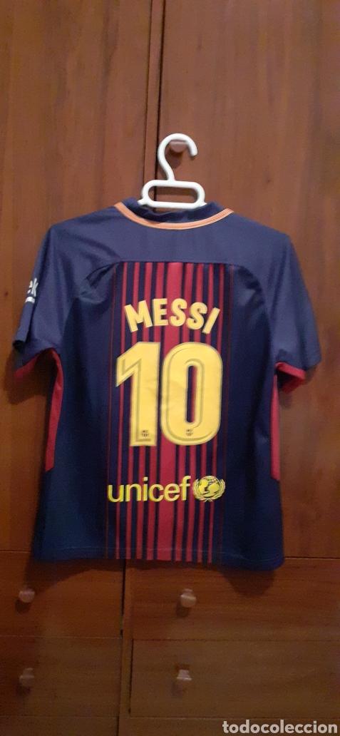 EQUIPACION DEL BARCELONA,N° 10 MESSI, TALLA 28 (Coleccionismo Deportivo - Ropa y Complementos - Camisetas de Fútbol)