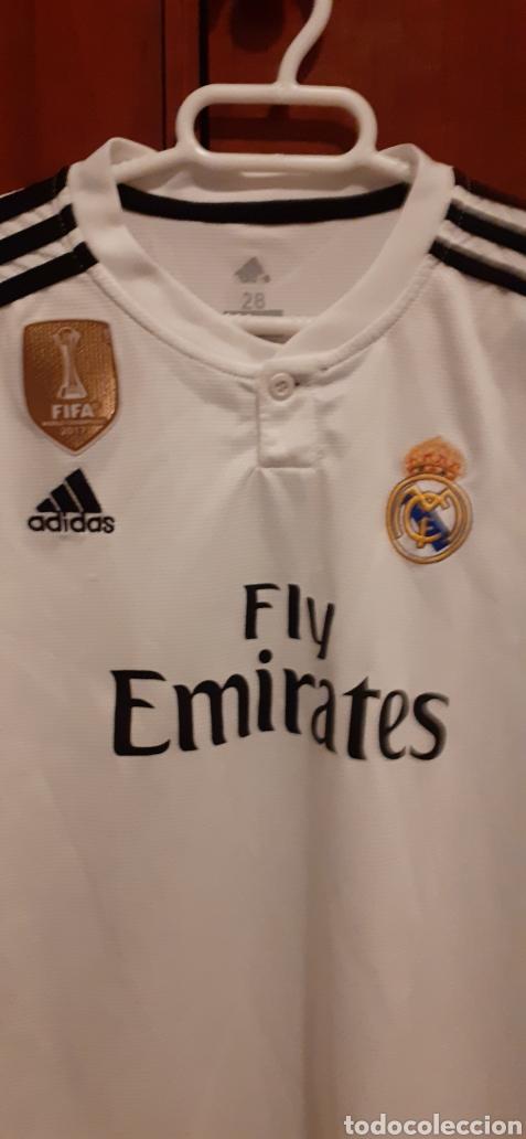 Coleccionismo deportivo: Equipacion del Real Madrid, n° 20 Asensio, talla 28 - Foto 2 - 284659128