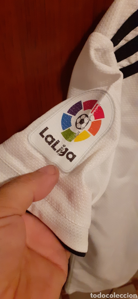 Coleccionismo deportivo: Equipacion del Real Madrid, n° 20 Asensio, talla 28 - Foto 3 - 284659128