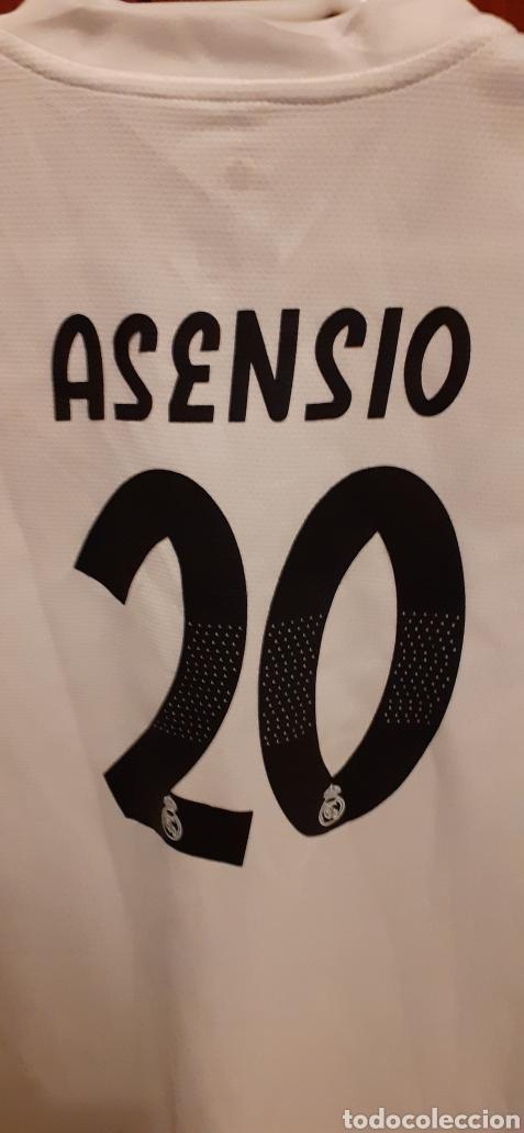 Coleccionismo deportivo: Equipacion del Real Madrid, n° 20 Asensio, talla 28 - Foto 6 - 284659128