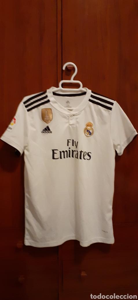 EQUIPACION DEL REAL MADRID, N° 20 ASENSIO, TALLA 28 (Coleccionismo Deportivo - Ropa y Complementos - Camisetas de Fútbol)