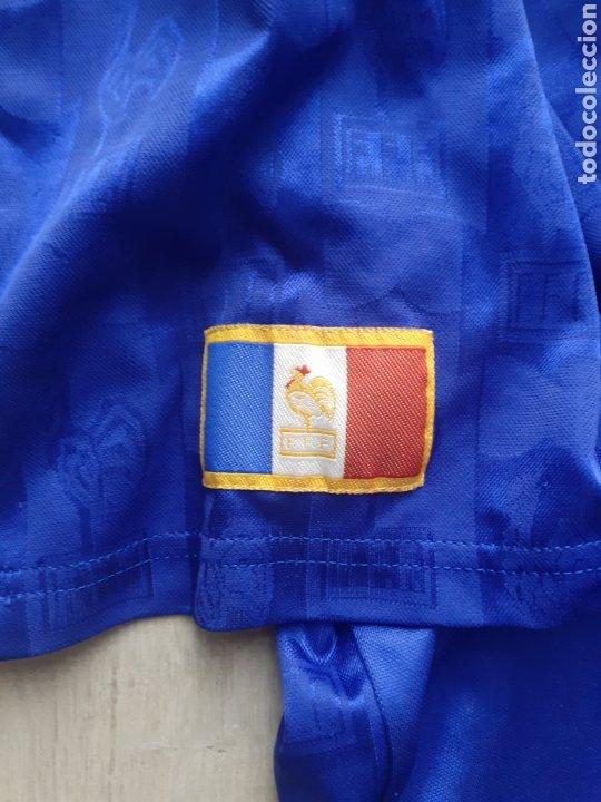 Coleccionismo deportivo: Original   Futbol   Talla XL   Camiseta de la seleccion de Francia años 90 - Foto 3 - 287139583