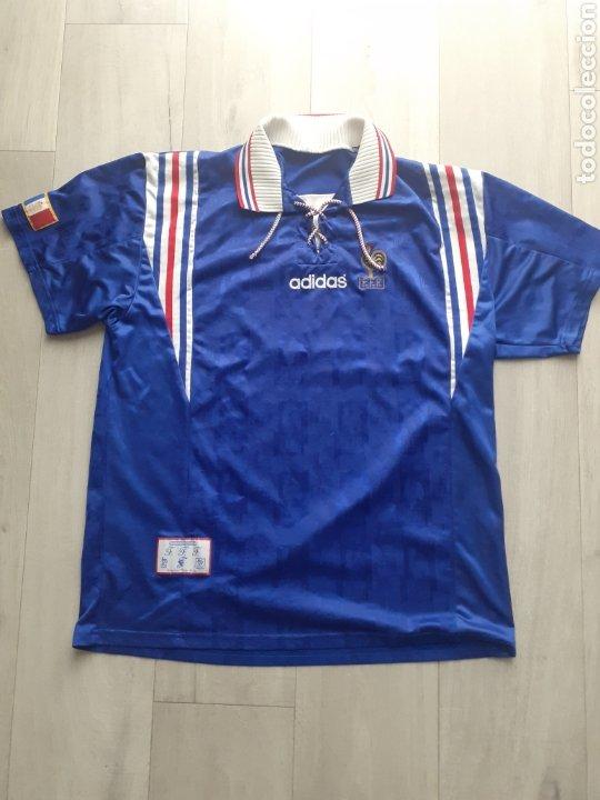 ORIGINAL   FUTBOL   TALLA XL   CAMISETA DE LA SELECCION DE FRANCIA AÑOS 90 (Coleccionismo Deportivo - Ropa y Complementos - Camisetas de Fútbol)