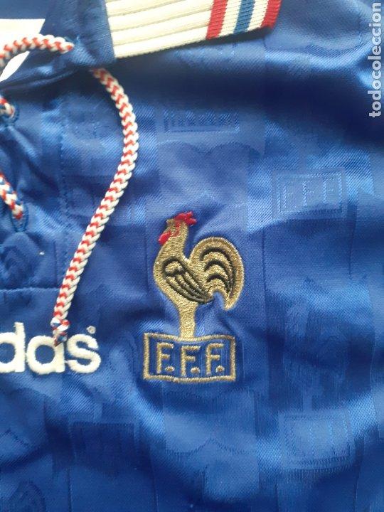 Coleccionismo deportivo: Original   Futbol   Talla XL   Camiseta de la seleccion de Francia años 90 - Foto 4 - 287139583