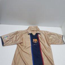 Colecionismo desportivo: CAMISETA F.C.BARCELONA TEMPORADA 2001/2002 SEGUNDA EQUIPACION. Lote 287400678