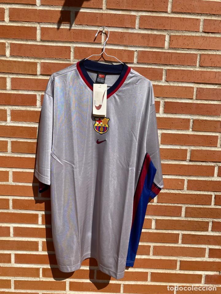 CAMISETA FÚTBOL ORIGINAL BARCELONA 1999-2001 NUEVA (Coleccionismo Deportivo - Ropa y Complementos - Camisetas de Fútbol)