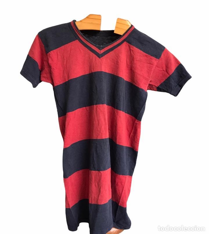 CAMISETA DE RUGBY MATCH WORN DEL F.C.BARCELONA 1930'S. (Coleccionismo Deportivo - Ropa y Complementos - Camisetas de Fútbol)