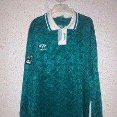 Coleccionismo deportivo: CLUB FERRO CARRIL OESTE 80S CAMISETA - ESTEBAN SANCHEZ - MATCH WORN - DROSAL 15. Lote 293840113