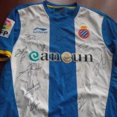 Coleccionismo deportivo: RCD ESPANYOL SIGNED TEAM POCHETINO L FOOTBALL SHIRT CAMISETA FUTBOL. Lote 294562668