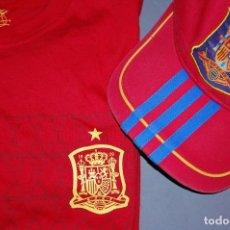 Coleccionismo deportivo: CAMISETA SELECCION ESPAÑOLA TALLA 8+GORRA SELECCION ESPAÑOLA. Lote 294969123