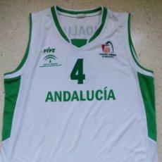 Coleccionismo deportivo: CAMISETA MATCH WORN SELECCIÓN ANDALUZA BALONCESTO TALLA XL DE ADULTO MARCA VIVE. Lote 295344878
