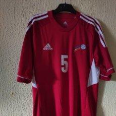 Coleccionismo deportivo: CAMISETA DE FUTBOL | ORIGINAL | TALLA M | SELECCION DE ANDORRA - DORSAL 5 - MATCH WORN. Lote 296628318