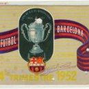 Coleccionismo deportivo: FUTBOL CARNET C.F.BARCELONA AÑO 1952. Lote 1230306