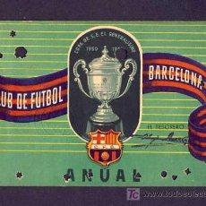 Coleccionismo deportivo: CARNET DE FUTBOL DEL BARCELONA BARÇA: 1952 ANUAL. Lote 6879951