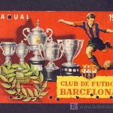 Coleccionismo deportivo: CARNET DE FUTBOL DEL BARCELONA BARÇA: 1953 ANUAL. Lote 6879969