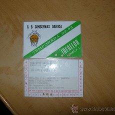 Coleccionismo deportivo: CARNET DE SOCIO CONSERVAS DAROCA CLUB DE BALONCESTO FILIAL DEL CAI ZARAGOZA. Lote 26429877
