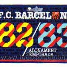Colecionismo desportivo: CARNET DE SOCIO CLUB DE FUTBOL BARCELONA. 1982-83. ANUAL BARÇA.. Lote 15241579