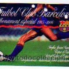 Coleccionismo deportivo: ABONO ESTADIO DEL CLUB DE FUTBOL BARCELONA. GOL NORD 2 GRADERIA. TROFEU GRAN CAMPER. 1985-86. Lote 16807519