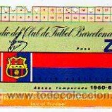 Coleccionismo deportivo: ABONO ESTADIO DEL CLUB DE FUTBOL BARCELONA. PREFERENTE NUMERADA. TEMPORADA 1960 - 61. Lote 16807596