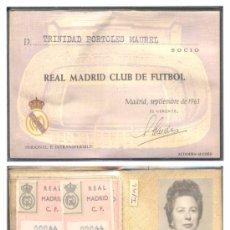 Coleccionismo deportivo: 1963.- CARNET DE SOCIO FEMENINO DEL REAL MADRID. Lote 18950116