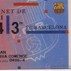Coleccionismo deportivo: CARNET SOCIO FUTBOL CLUB BARCELONA AÑO 1994 3 TRIMESTRE . Lote 19828724