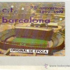 Coleccionismo deportivo: (519-F)FUTBOL CARNET ANUAL C.F.BARCELONA AÑO 1974. Lote 20666227