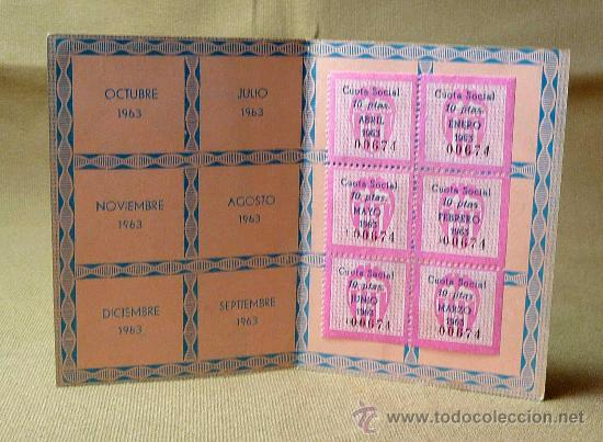 Coleccionismo deportivo: CARNET DE SOCIO DE NUMERO, 1963, VALENCIA CLUB DE FUTBOL - Foto 2 - 21814635