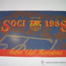 Coleccionismo deportivo: CARNET...SOCI...F.C. BARCELONA...1988. Lote 21911828