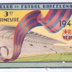 Coleccionismo deportivo: C.F. BARCELONA - 3º TRIMESTRE DE 1944- CARNET DE SOCIO 1944- (BARSA-14). Lote 25932458