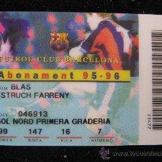 Coleccionismo deportivo: CARNET TIPO TARJETA DE CREDITO 95-96 DEL FC BARCELONA CF BARÇA F.C FUTBOL CLUB. Lote 29774170