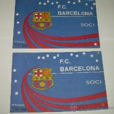 Coleccionismo deportivo: DOS CARNETS DE SOCI F.C. BARCELONA...1979. Lote 31784861