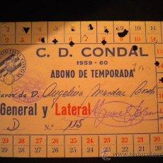 Coleccionismo deportivo: CARNET DE SOCIO CLUB DEPORTIVO CONDAL 1959-1960.. Lote 31808331