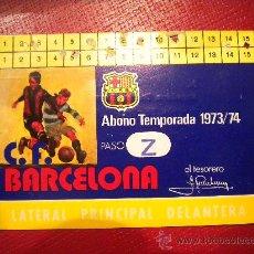 Colecionismo desportivo: CARNET DE ABONO DEL CLUB DE FUTBOL BARCELONA 1973-74.. Lote 31955349